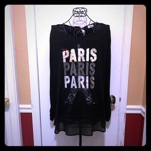 🖤Paris Paris Paris Long Sleeve Blouse🖤